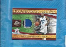 JAMEER NELSON GAME USED PATCH 2009-10 PANINI UPDATE CHRISTMAS CARDS MATERIALS