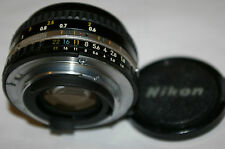 GENUINE ORIGINAL Nikon BRAND 50mm F1.8 AUTO NIKON E AIS LENS with METAL MOUNT