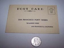 1952 SAN FRANCISCO FORTY NINERS 49ERS TICKET REQUEST POSTCARD NFL FOOTBALL