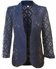 NEXT NEW WOMENS NAVY BLUE GEO LACE CASUAL BLAZER JACKET TOP SIZE 6-22 RRP £34