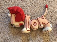 PBS Word World magnetic animal plush Lion Pull apart letters TV show EUC!   #P1