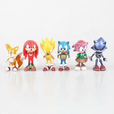 6pcs Sonic the Hedgehog Action Figures Doll Kids Children Baby Boy Girl Toy Set