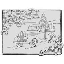 Stampendous Christmas Cling Rubber Stamp-Truck Of Gifts 744019202108