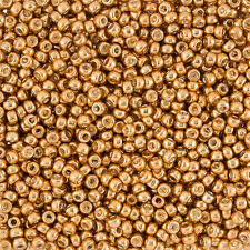 Miyuki Size 8 (3mm) Round Seed Beads Galvanized Yellow Gold 20g tube (J36/3)