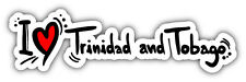 "I Love Trinidad And Tobago Travel Slogan Car Bumper Sticker Decal 8"" x 3"""