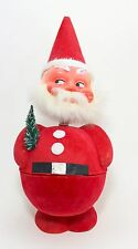SANTA CLAUS VTG CANDY CONTAINER WEST GERMANY NODDER PAPER MACHE CHRISTMAS FIGURE