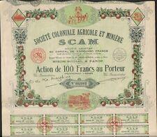 DECO =  SCAM Sté Coloniale AGRICOLE & MINIERE (MAROC & Colonies) (H)