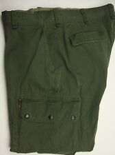 RALPH LAUREN $185 MILITARY VINTAGE OLIVE ALL COTTON CARGO PANT STRAIGHT FIT #519