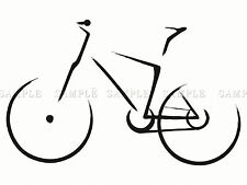 PAINTING DRAWING BLACK WHITE OUTLINE BICYCLE BIKE POSTER PRINT BMP10195