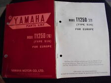 Parties list Catalogue / Pièces Yamaha TY 250 Type 516 (1976-1977)