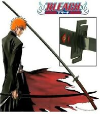 BLEACH ANIME ICHIGO'S TENSA ZANGETSU SAMURAI SWORD W/Single Sword Stand