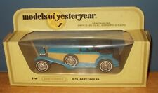 Matchbox Yesteryear Y16 Mercedes Benz SS Coupe Blue Fawn Side Panels Issue 21