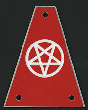 GUITAR TRUSS ROD COVER - Custom Engraved - Fits JACKSON - PENTAGRAM 666 - RED