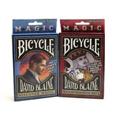 2 pack David Blaine Bicycle decks Magic trick playing cards Gaff discover