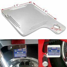 Universal Stainless Motorcycle Inspection Sticker Plate 3.5*3.5 For Harley