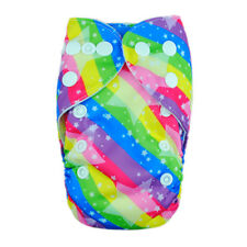 ALVA 1PCS  Newborn baby cloth  diaper nappy cover with one insert colorful nice