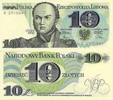 POLAND BANKNOTE PRL 10 ZLOTYCH 1982 YEAR GENERAL JOSEPH BEM !!! UNC LOT SET1 PC