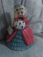 "VINTAGE CHRISTMAS - 7"" SHOPPER GIRLw/ MUFF PLANTER  NAPCO JAPAN A12193A. ca 1956"
