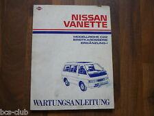 #N136 NISSAN VANETTE C22 Breitkarosserie Ergänzung I Update WERKSTATT HANDBUCH