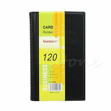 Leather 120 Cards Business Name ID Credit Card Holder Book Case Keeper Hot