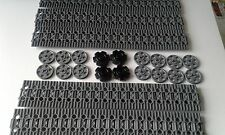 NEW GENUINE LEGO TECHNIC GRAY CATERPILLAR TRACK'S x 100 + DRIVE & GUIDE WHEEL'S