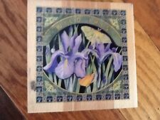 Whispers Sugarloaf products Large Wild Iris Rubber Stamp - gently used