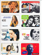 8 TELECARTE / PHONE CARD .. FRANCE 50U PACK FILLE SEXY GIRL 3  MIX PUCE C.12€