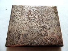 "Vintage Classic Exquisite ""Floral Themed"" Silver Plated Alpacca Cigarette Case"