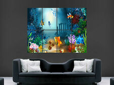 FISH UNDER THE SEA FANTASY POSTER VECTOR ART IMAGE PRINT GIANT LARGE WALL