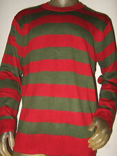 Nwt Lg A Nightmare On Elm St Street Freddy Krueger Knit Stripe Costume Sweater