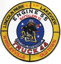 "*NEW*  Chicago  Engine-55 / Tr-44  ""Wrigleyville"", IL (3.75"" x 4.5"") fire patch"