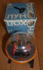 VINTAGE RUSSIAN SPACE MOON ROVER UFO TOY 1960's CLOCKWORK - RARE BOXED LUNOKHOD