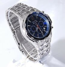 Bulova Stainless Steel Blue Chronograph Day/Date Mens Marine Star Watch 98B282