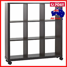 9 Cube Shelf Bookcase Storage Unit  Display Book with Wheel 1000mmx1062mmx250mm