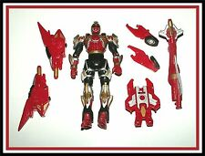 "Power Rangers Ninja Storm:  Crimson ""Turbo Tri Battlized"" Ranger _ ** Must See *"
