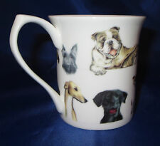 ScallyWags Coffee Mug Cup Fine Bone China Black Lab Beagle German Shepherd Chi