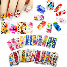 50pcs/lot Mixed Flowers Nail Art Decals Water Transfer Stickers Decoration DIY