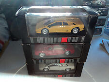 Macadam 1/43  3x Lamborghini Diablo  1 x red - 1 x white - 1 x yellow