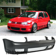 VW Golf 99-05 MK4 GTI IV R32 Style Front Bumper Cover Black ABS Mesh Grille