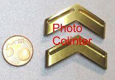 Galons d'épaules en métal  :  Sergent  Féminin  - Années 70 - couleur Or -