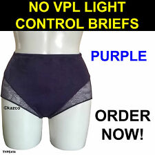 Light Tummy Control Briefs Cotton Rich Lace Full Knickers Shapewear Pants