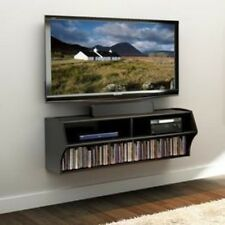 """Prepac Wall Mounted A-V Console in Black BCAW-0200-1 , 16"""" x 48.5"""" x 16.8"""" New"""