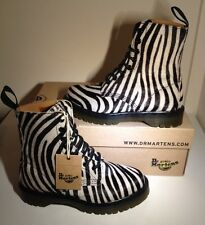Bnib! Sz3 Dr. Martens Airwair Pascal Zebrino Italian Hair On Lace Up Boots Eu36