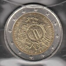 G009 Moneta Coin ITALIA: 2 euro 2012 Commemorativo Unione Monetaria Europea