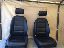 2007 Audi A6 FRONT HEATED SEAT SEATS LEFT RIGHT SET BLACK OEM