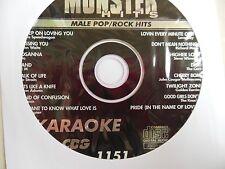 KARAOKE MONSTER HITS CD+G MALE POP/ROCK HITS   #1151