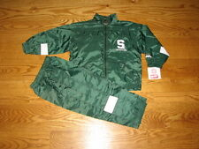 NEW Baby Boys Michigan State Spartans Windsuit Jacket Pants Size 12M 12 Mo Track