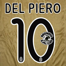 DEL PIERO #10 JUVENTUS NUMERO AWAY KIT NAME SET PRINTING SERIE A 2008-2009
