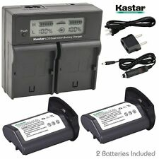 LCD Dual Fast Charger & 2 x Battery for Canon LP-E4 EOS-1D 1DS Mark 3 Mark 4