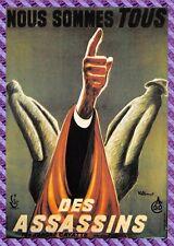 Carte Postale Affiche de Film - NOUS SOMMES TOUS DES ASSASINS(Marcel Mouloudji)
